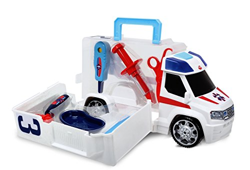 Dickie Toys Push and Play SOS Rescue Ambulance