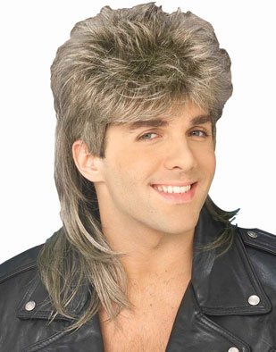 Forum 70's Disco Mullet Wig, Blonde, One Size (Wig 70's Costume)