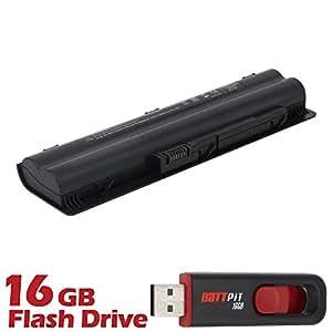Battpit Bateria de repuesto para portátiles HP Pavilion DV3-2025EG (4400 mah) Con memoria USB de 16GB GRATUITA