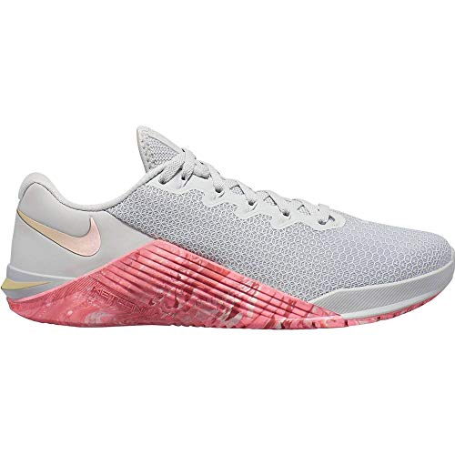 Nike Metcon 5 Women's Training Shoee Pure Platinum/Oil Grey-Imperial BLUET 7.5
