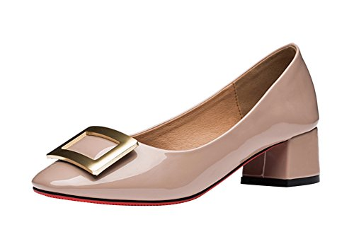 tmates-womems-fashion-square-buckle-slip-on-dress-working-low-heel-pump-shoes-55-bmuspink
