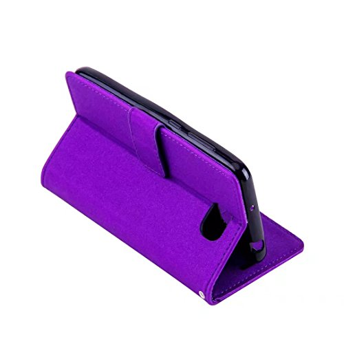 COWX Huawei Y5 II / Y5 2(2016) Hülle Kunstleder Tasche Flip im Bookstyle Klapphülle mit Weiche Silikon Handyhalter PU Lederhülle für Huawei Y5 II / Y5 2(2016) Tasche Brieftasche Schutzhülle für Huawei