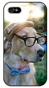 iPhone 6 Case Hipster labrador, tie, hat and glasses - black plastic case / dog, animals, dogs