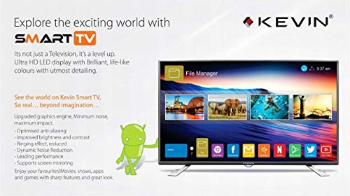 Kevin 122 cm 48 Inches Full HD LED Smart TV KN50FHD Black