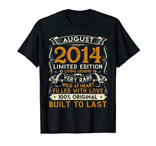 August 2014 TShirts 5 Yrs Old 5th Bday Gift For Boys Girls