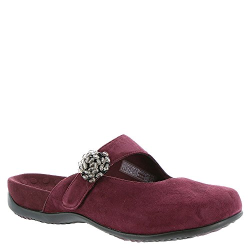 Vionic with Orthaheel Technology Womens Joan Mary Jane Mule Merlot Size 11