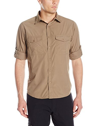 Craghoppers Kiwi Men's Long Sleeved Shirt - Pebble, X-Large by Craghoppers