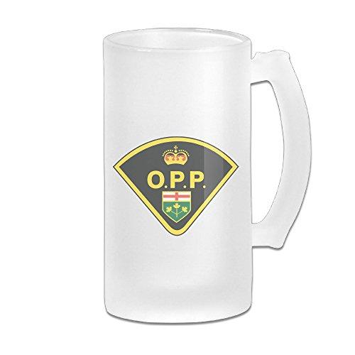 SUNpp Ontario Provincial Police Logo Scrub Beer Mugs Beer Glasses