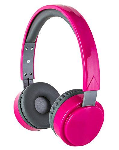 Sharper Image SHP57 - Auriculares estéreo con micrófono, Cable Desmontable, Rosado