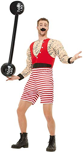 Mens Circus Strongman Weight Lifter Stag Do Night Party Halloween TV Book Film Movie Funny Fancy Dress Costume Outfit (Large)