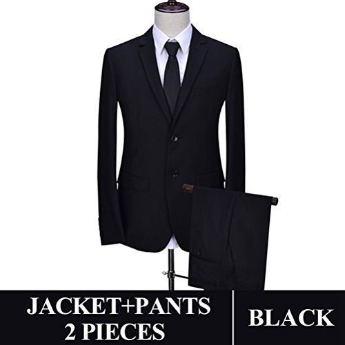 577Loby Men Business Suit Slim Fit Classic Male Suits Blazers Suit Two Buttons 2 Pieces(Suit Jacket+Pants) by 577Loby (Image #1)