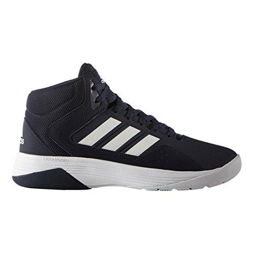 Adidas NEO Men's Cloudfoam Ilation Mid Basketball Shoe, Collegiate Navy/White/White, 8.5 M US