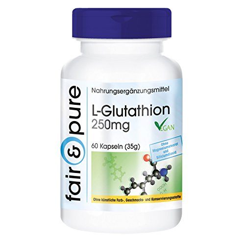 L- glutathione 250mg (reduced), vegan, free form, without magnesium...