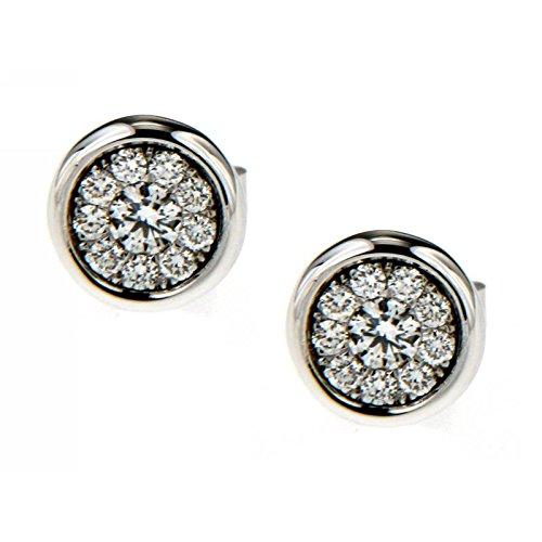 Boucles d'oreilles avec diamants-040/Xe433 Recarlo