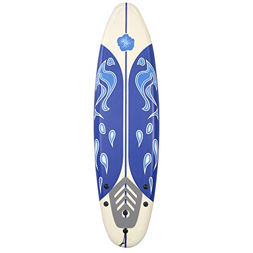 6' Surfboard Surf Foamie Boards Surfing Beach Ocean Body Boarding White TKT-11 by TKT-11