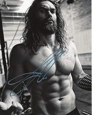 (Shirtless Jason Momoa Signed 8x10 Photo Aquaman star)