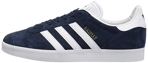 adidas Originals Men's Gazelle Lace-up Sneaker,Collegiate Navy/White/Gold Met,10.5 M US