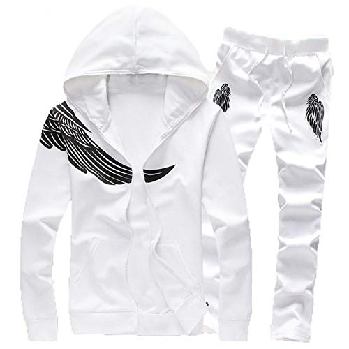 Amazon.com: Autumn Men Hoodies Set Male Casual Solid Pattern Print Sportswear Zipper Hooded Jacket+Sweatpants Sets: Arts, Crafts & Sewing