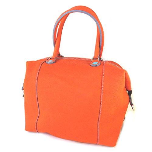 Bolso de cuero 3 en 1 naranja 'Gabs'(l)- 43x36x2 cm.