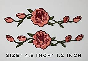 d430c1a66e95a Rose Patch for Vans Red Rose Vine Gucci Embroidered 2PCS Iron on ...