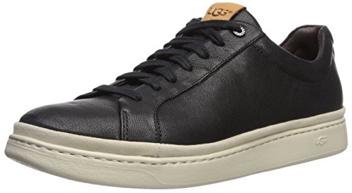 UGG Men's Cali Lace Low Leather Sneaker, Black, 7.5 M US