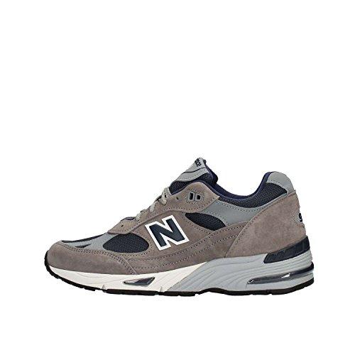Sneaker New Balance 991 Uomo M991ANG in pelle scamosciata e tessuto Grigio