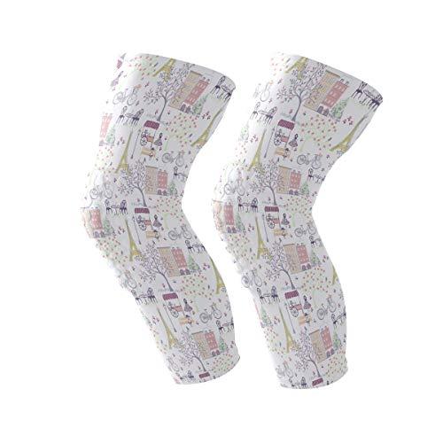 Frezi-z Sports Knee Pads Compression Leg Athletic Sleeve Anti-Slip Men Women Girls Boys Adult Size M Sold as Pair (2 Sleeves) Waverly ()