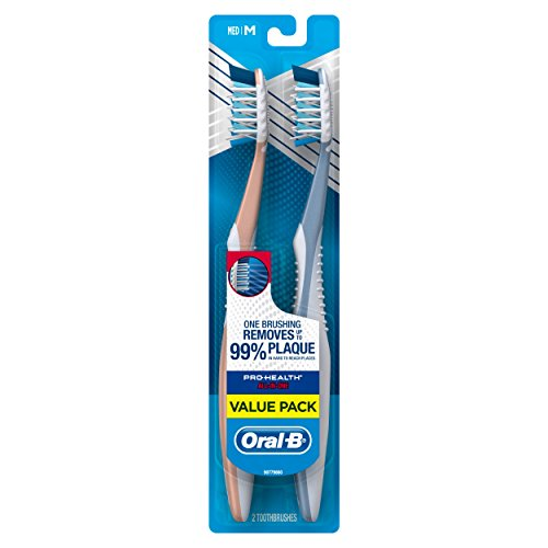 Oral-B Pro-Health All-In-One 40 Medium Toothbrush Twin Pack, assorted colors