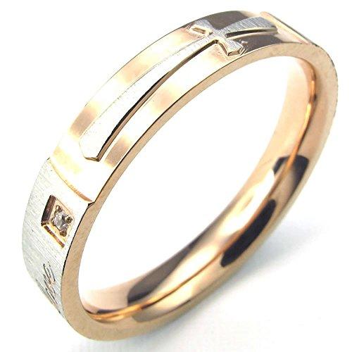 KONOV Stainless Zirconia Couples Promise