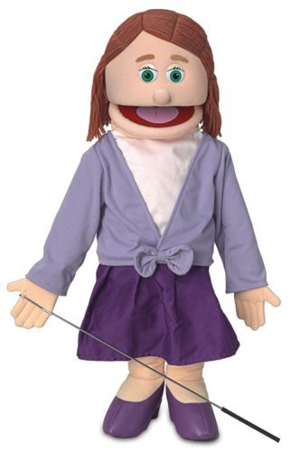25'' Sarah, Peach Mom / Teacher, Full Body, Ventriloquist Style Puppet