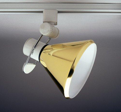 PLC Lighting TR203 BK Track Lighting Lamp Shade Comet-I Collection, Black Finish