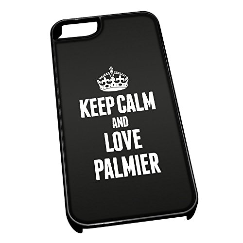 Nero cover per iPhone 5/5S 1338nero Keep Calm and Love Palmier