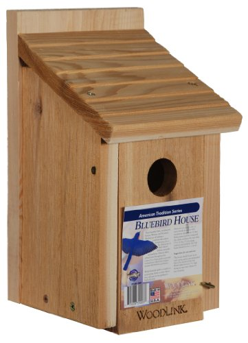 Bluebird Nest Box - Woodlink Wooden Bluebird House - Model BB1
