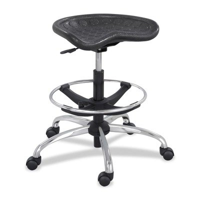 SAF6660BL - Safco Sit-Star Stool with Footring amp;amp; Caster by Safco