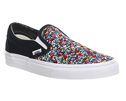 Vans Classic Slip-On, Sneakers, Unisex adulto, (Dress Blue/Multi Floral Exclusive), 40