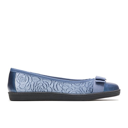 Soft Style by Hush Puppies Women's Faeth Ballet Flat, mid Blue Rose Velvet, 6.5 Extra Wide US by Soft Style