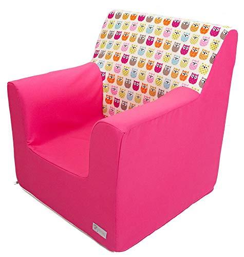 Borda y más Sillón o Asiento Infantil Personalizado de Espuma para bebés y niños. Varios Modelos y Colores Disponibles. (Estrellas Azul)