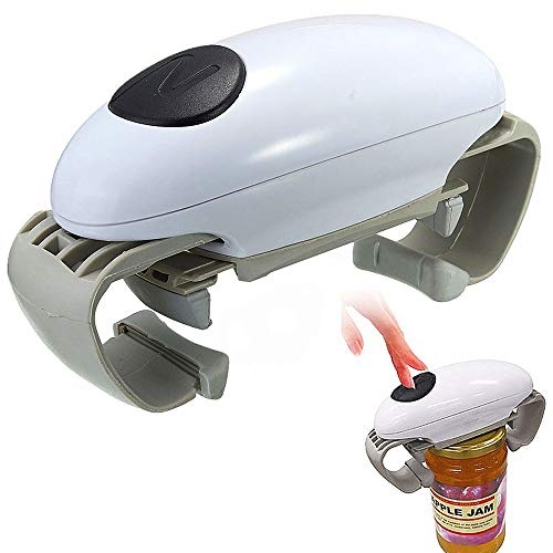 Jenify Automatic Jar Opener Openers Canisters Automatic Tin Opener Canned Electric Bottle Hands Free Operation Jar Opener Kitchen Gadgets Tool