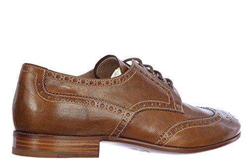 Prada chaussures à lacets classiques homme en cuir derby vintage calf marron
