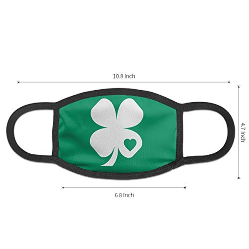 NOT Masks Irish Shamrock Green Clover Heart ST Patricks Day Cover for Men& Women Anti-Bacterial Reusable Windproof Thermal Mask£¨1 PCS