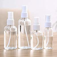 Spray Bottle 2oz / 50ML Lotion Spray Bottle Perfume Bottle Plastic Empty Bottle Transparent Small Watering Can 3pcs
