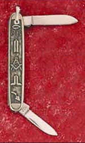 RARE only ONE ON AMAZON:Square-and-Compasses Co. PEWTER-FACED WORKING TOOLS LOGO GIFT MASONIC PEN POCKET KNIFE: MASON FREEMASON MASTER MASONIC MASONS' Free Mason Masonry Freemasonry Past Emblem ()