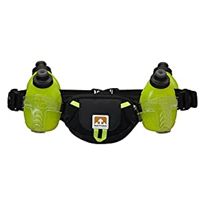 Nathan Trail Mix 4 Plus Hydration Belt, Black/Safety Yellow, One Size