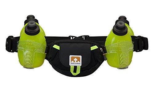 4 Hydration Belt (Nathan Trail Mix 4 Plus Hydration Belt, Black/Safety Yellow, One Size)