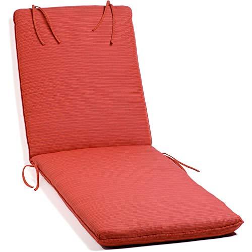 Oxford Garden Chaise Lounge Cushion, Dupione Papaya