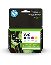 Original HP 962 Black, Cyan, Magenta, Yellow Ink Cartridges (4-Pack)   Works with HP OfficeJet 9010 Series, HP OfficeJet Pro 9010, 9020 Series   Eligible for Instant Ink   3YQ25AN
