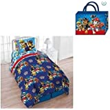 Nickelodeon Paw Patrol Pups Save The Day Twin 4-Piece Bedding Comforter Set with Bonus Tote