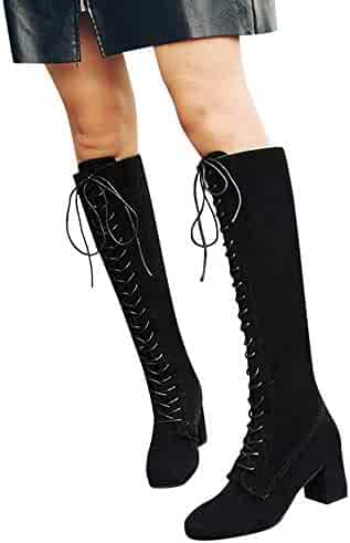 68cec7d7ffea OrchidAmor New Women Straps Slim Lace-up High Boots Over The Knee Boots  High Heels