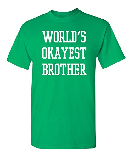 Worlds Okayest Brother Graphic Cool Novelty Funny Youth Kids T Shirt YM Irish (Love Green Boys Irish)