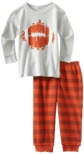Charlie Rocket Baby-Boys Infant Football Tee with Stripe Legging Set
